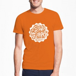 T-shirt orange solidays in love