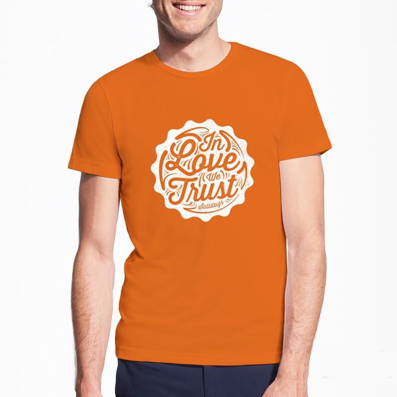 T-shirt orange solidays in love