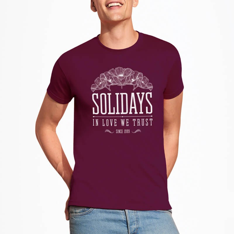 t-shirt homme solidays love 1999