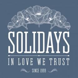 Tee-shirt Solidays In love We Trust bleu