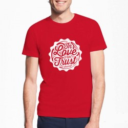 In Love We Trust Rouge Solidays Tee-shirt