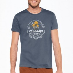 T-shirt Summer Solidays bleu