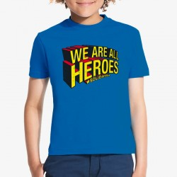 T-shirt enfant We Are All Heroes Solidays