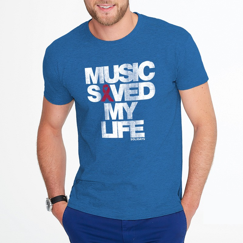 t-shirt solidays music saved my life