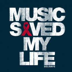 sweat hoodie Solidays Music Saved My Life Navy