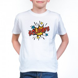 T-Shirt Enfant Solidays Splash Blanc