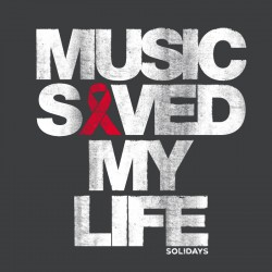Totebag Music Saved My Life Gris Souris
