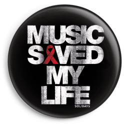 Badge Music Saved My Life