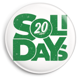Badge Solidays 20 ans Vert