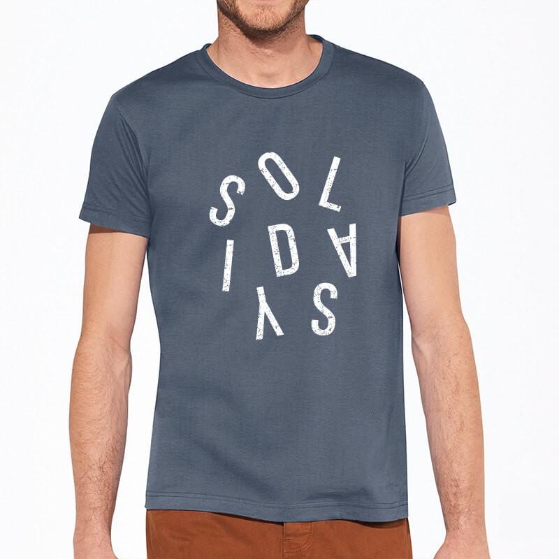 T-Shirt Homme Lettres Vrac Denim