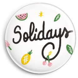 Badge Solidays Vitaminé