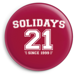 Badge Solidays 21 Framboise