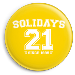 Badge Solidays 21 Jaune
